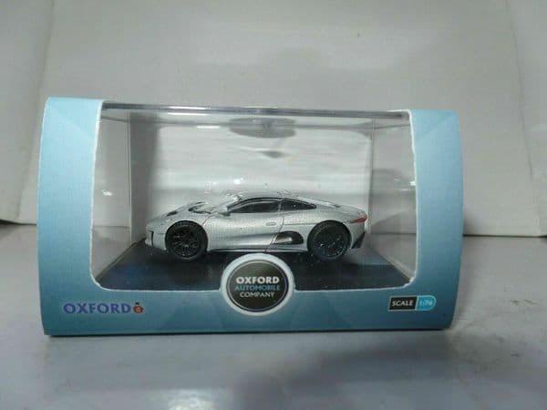 Oxford 76JCX75001 JCX75001 1/76 OO Scale Jaguar CX75 Silver Concept Car Spectre